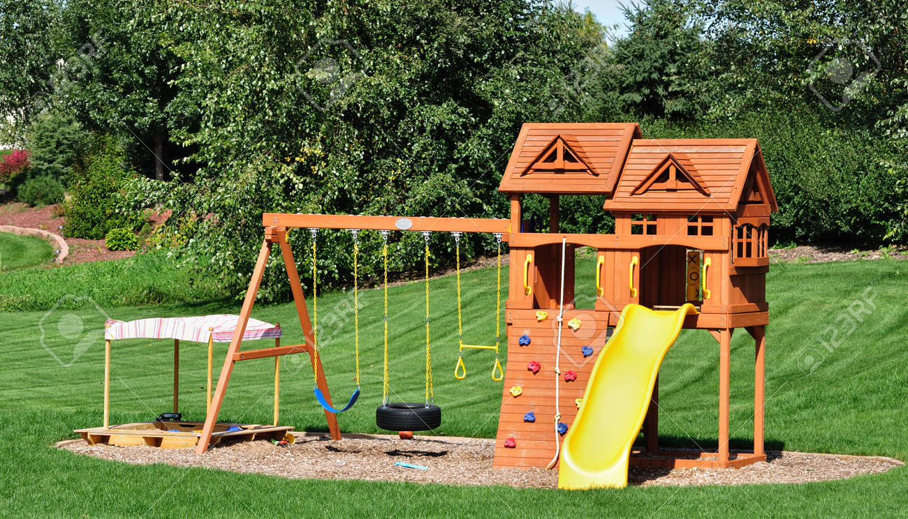 products set back backyard playsets discovery wooden madison cob swing
