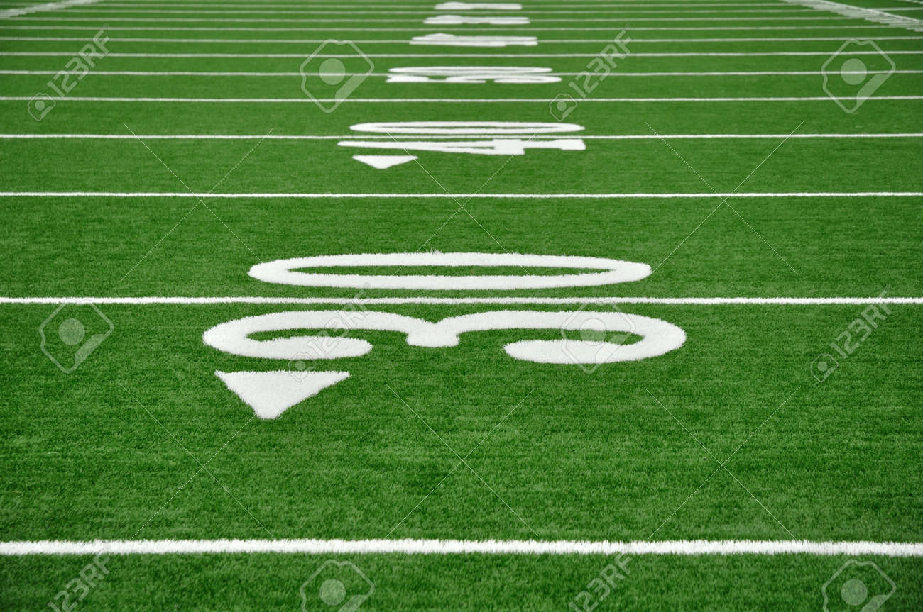 grass american football field. 30, 40, \u0026 50 Yard Line On American Football Field Stock Photo - 10226366 Grass L