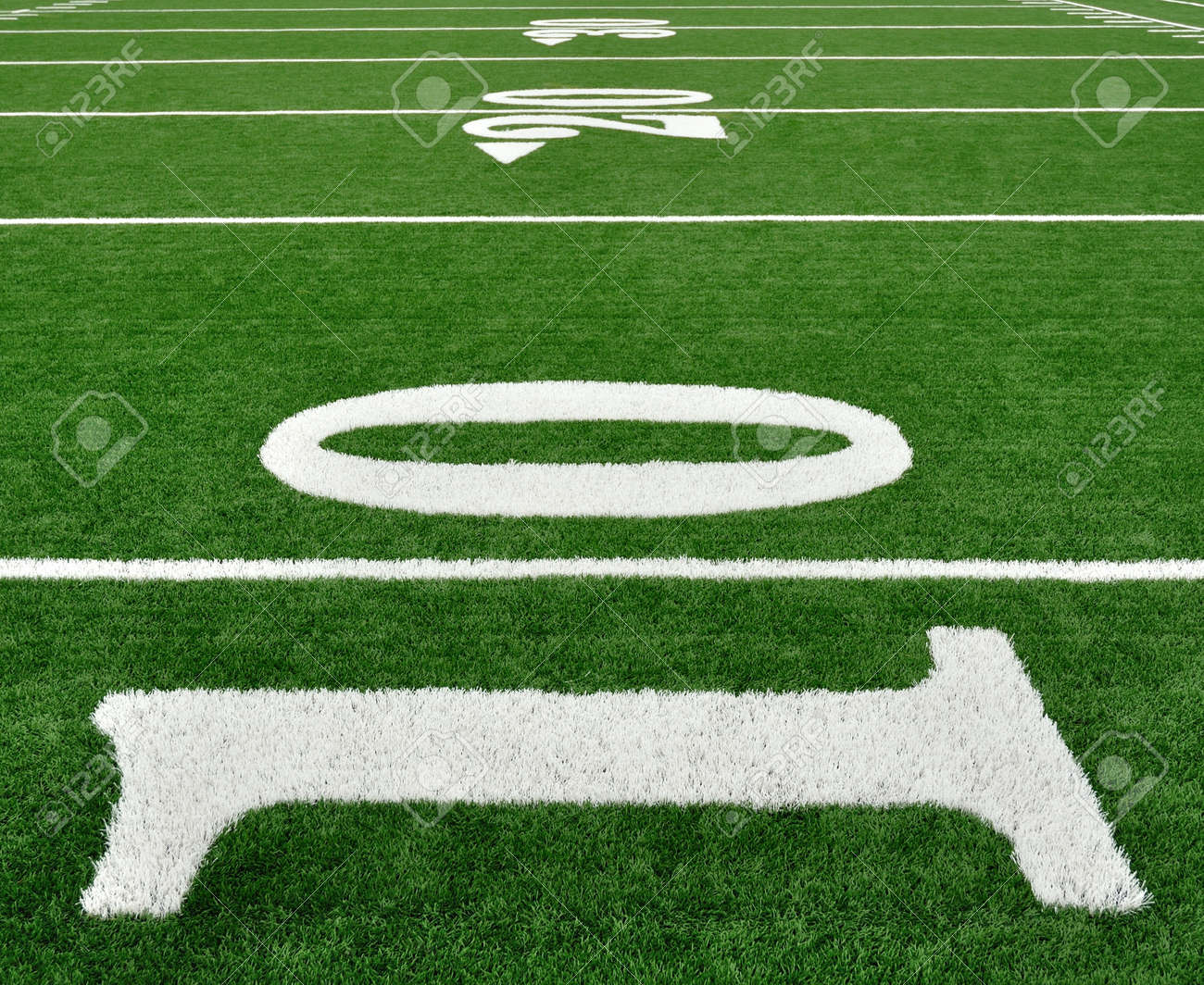 10 20 30 Yard Line On American Football Field Stock Photo Picture And Royalty Free Image Image 10413326