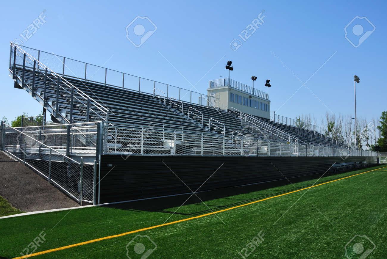 Bleachers of American High School Football Stadium Stock Photo - 19235464