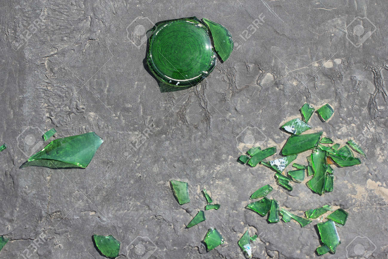 Gray concrete and broken glass background Stock Photo - 9949442