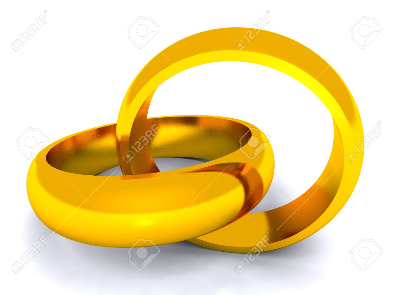 Wedding Rings Entwined