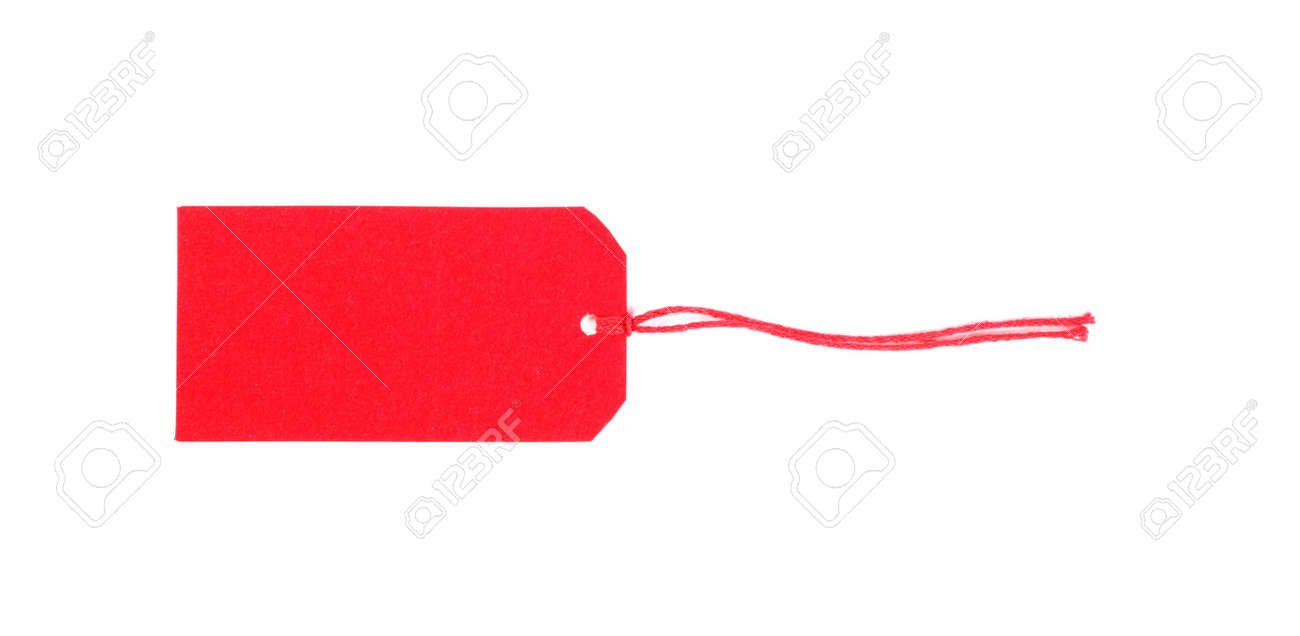 Blank gift tag for text messages on a white background. Stock Photo - 703294
