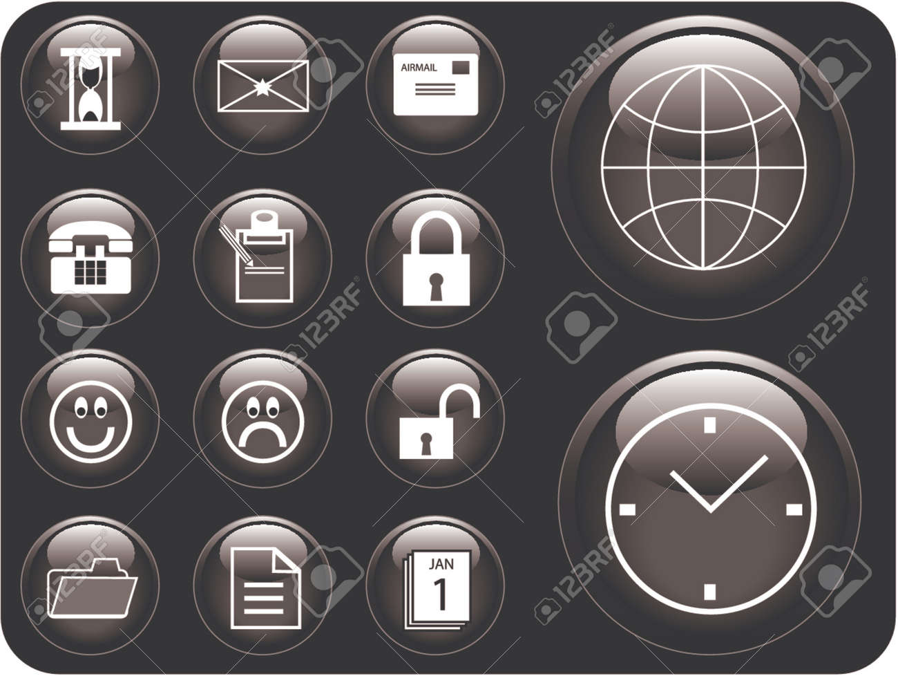 Vector 3D buttons Stock Vector - 718272