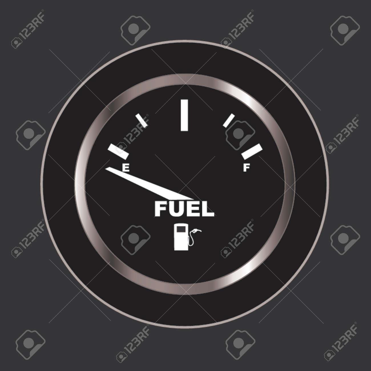 Vector image of a fuel gauge, shows empty. Stock Vector - 741004