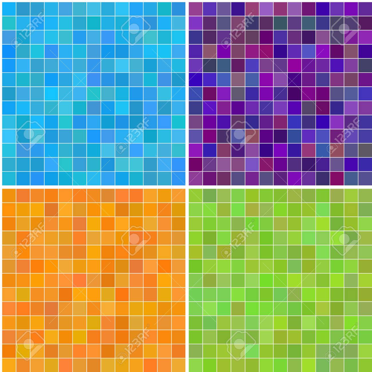 foto de archivo vector colorido varios colores sin fisuras cuadrados de azulejos de bao cocina o - Azulejos De Bao