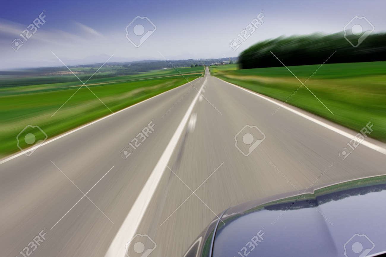 Zooming Car Zooming fast moving car