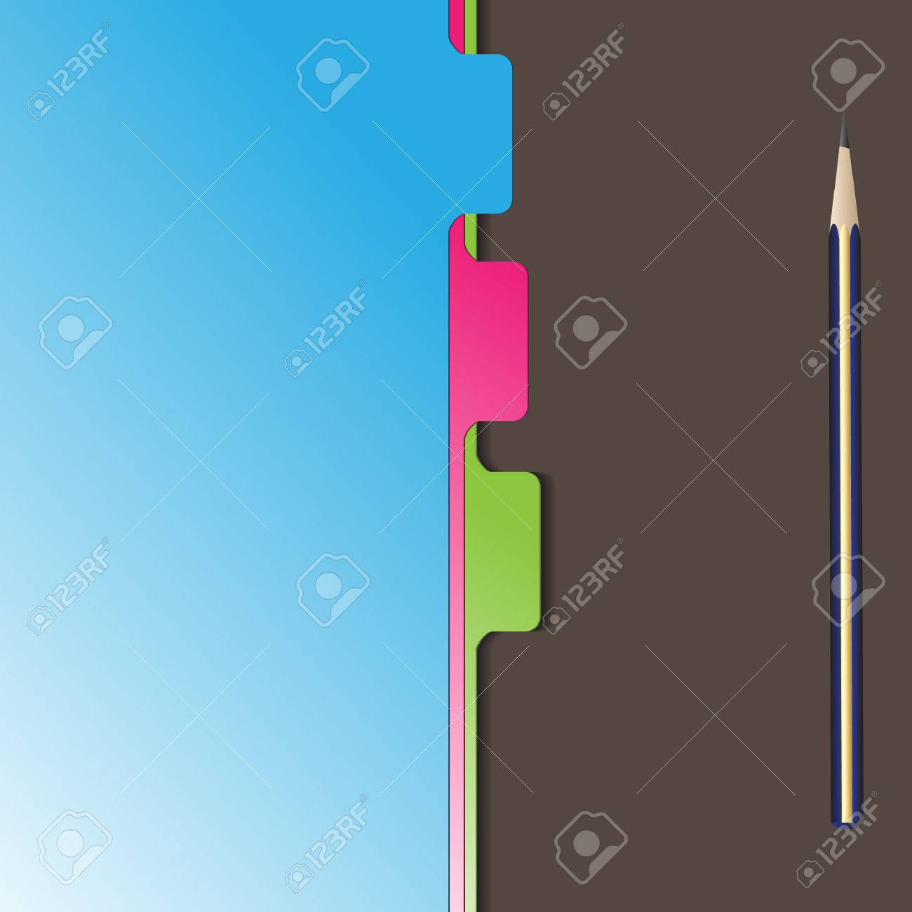 Vector - Document separator or divider with pencil stationery Stock Vector - 5592666