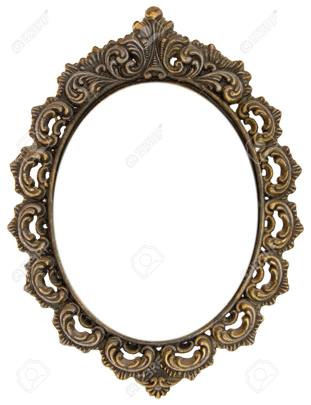 Ornate Antique Oval Frame Stock Photo, Picture And Royalty Free ...
