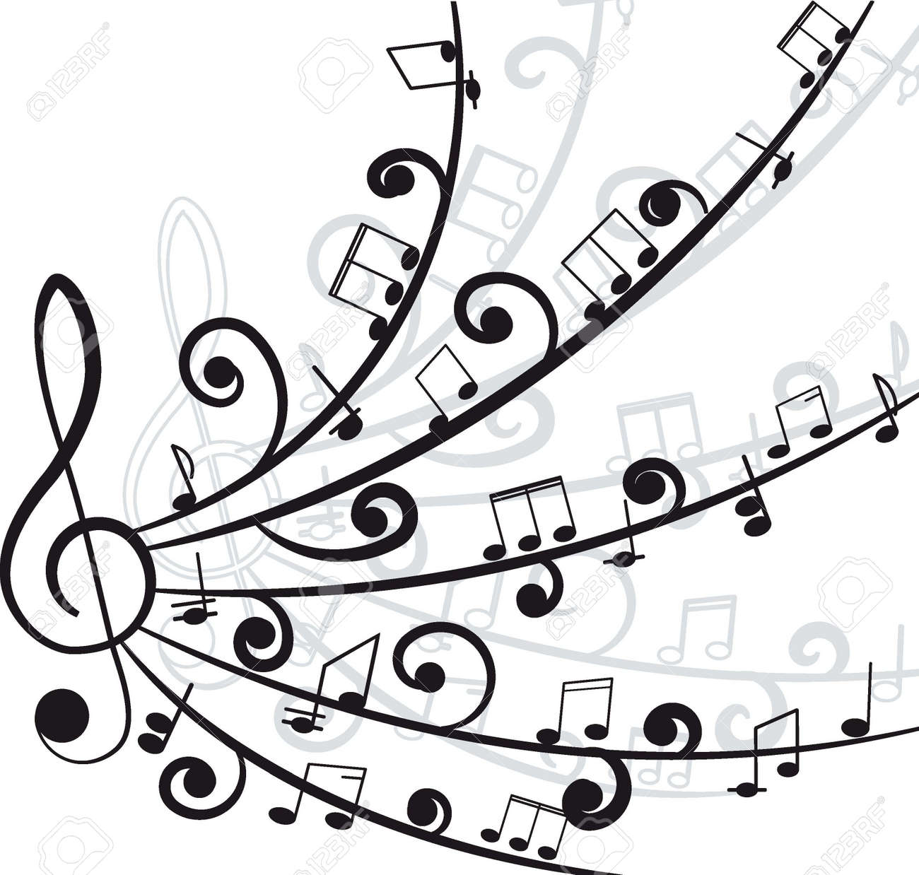 Cool Music Designs Black And White | Wallpapers Gallery