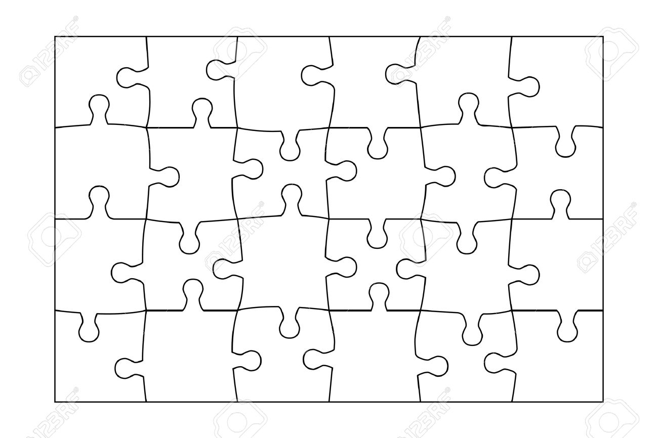 Free Jigsaw Puzzle Template from previews.123rf.com