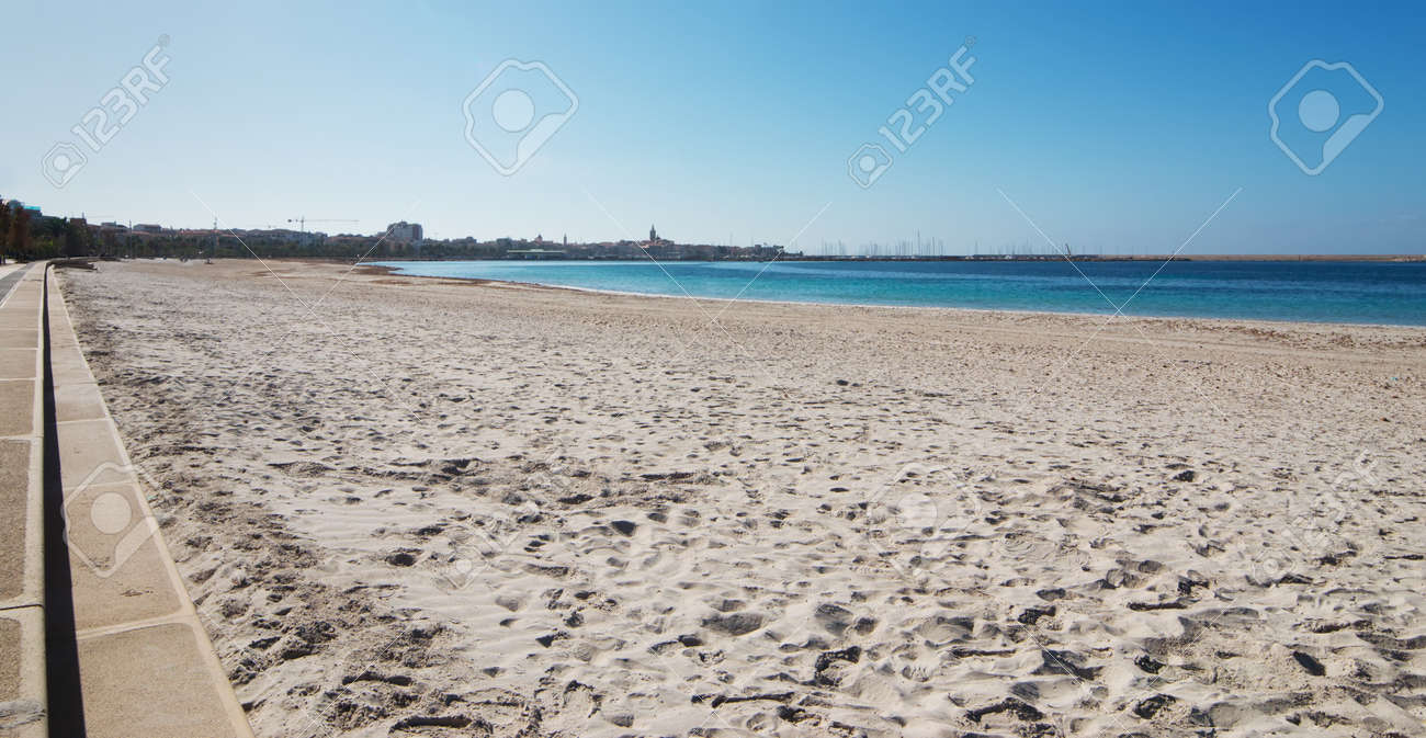 Alghero Seen From The Beach Of Lido San Giovanni Stock Photo Picture And Royalty Free Image Image 33071067