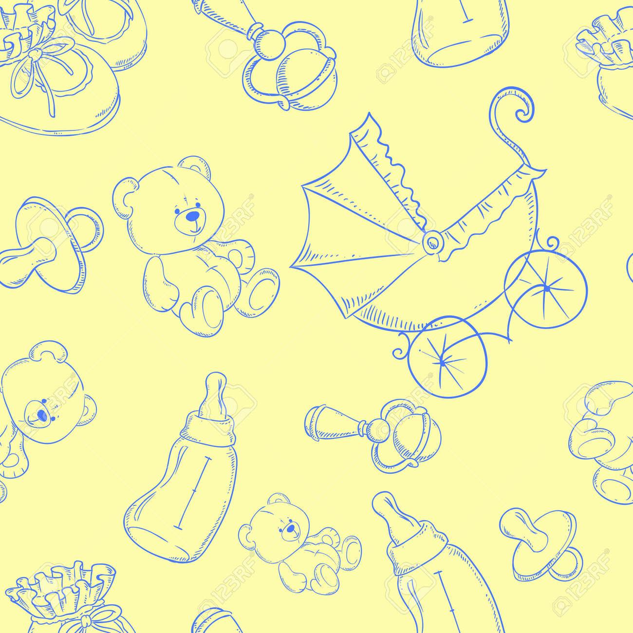 Fondo amarillo bebe