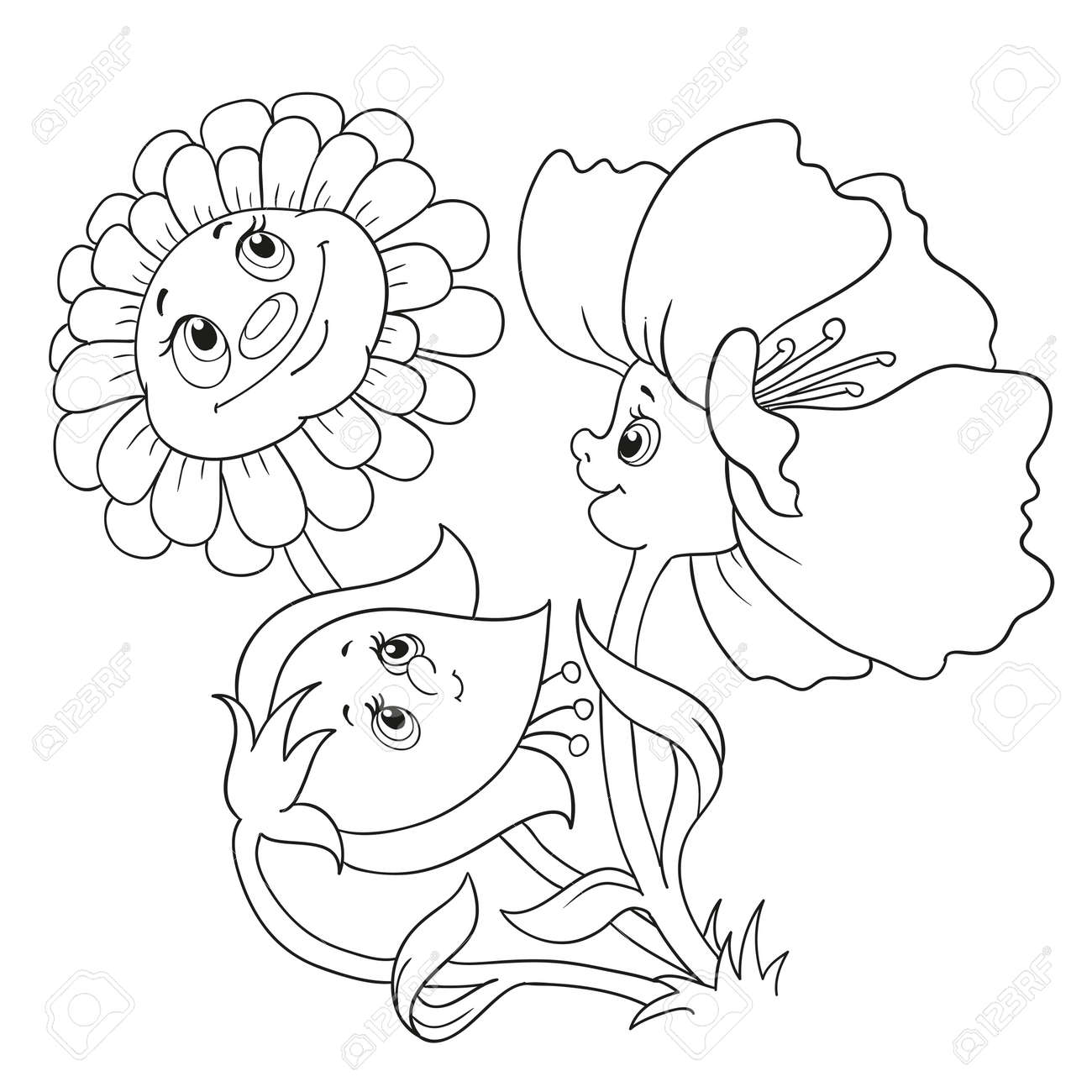 Parte Superior Flores En Dibujos Para Colorear