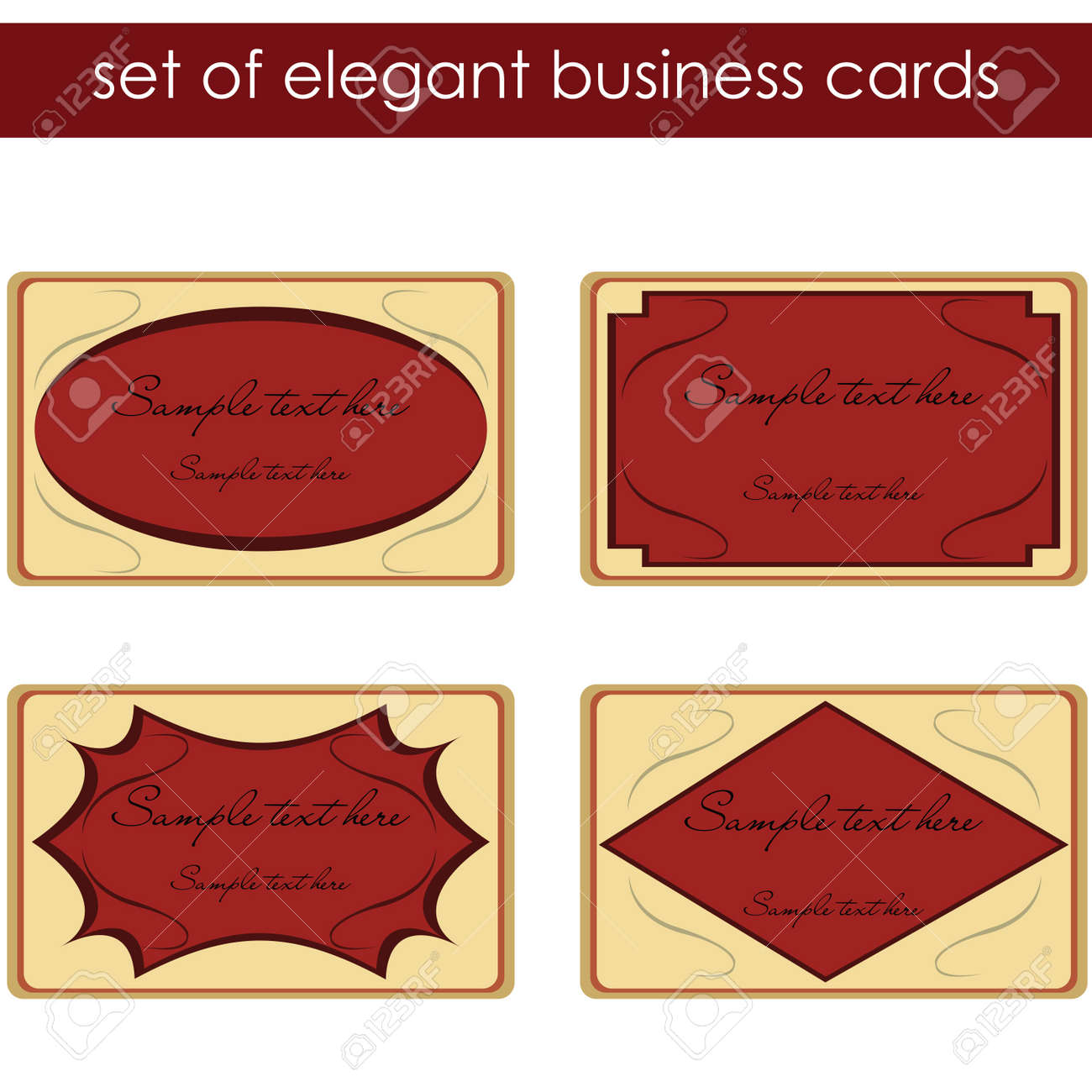 Elegant business cards, labels Stock Photo - 7032270
