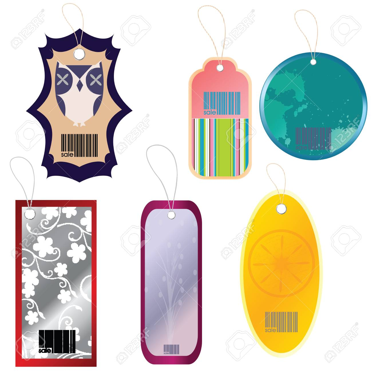 Fashion tags with different elements Stock Photo - 7032288