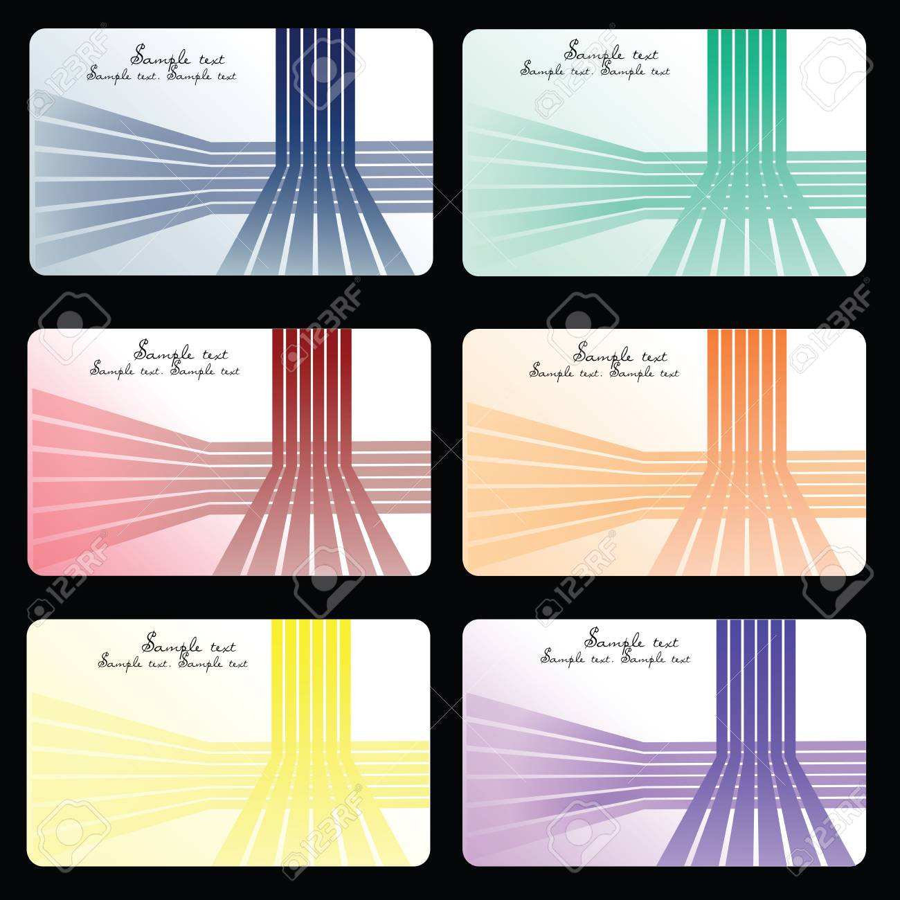 Set of business cards Stock Photo - 7032341