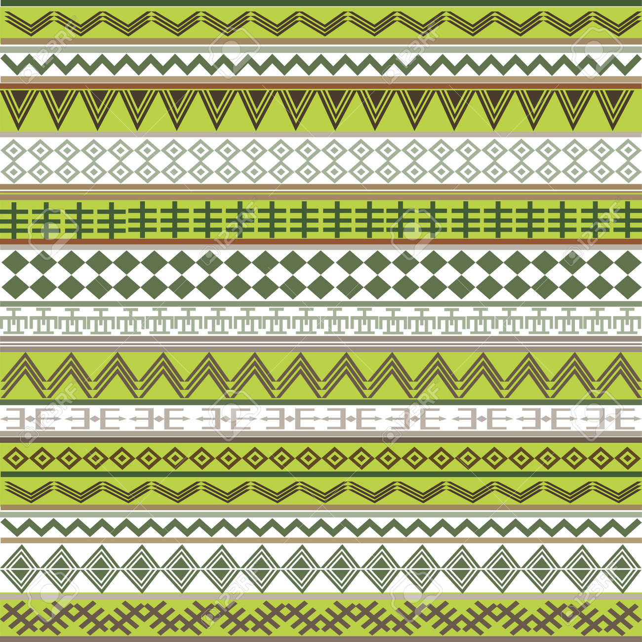 green texture with african motifs Stock Photo - 7718136