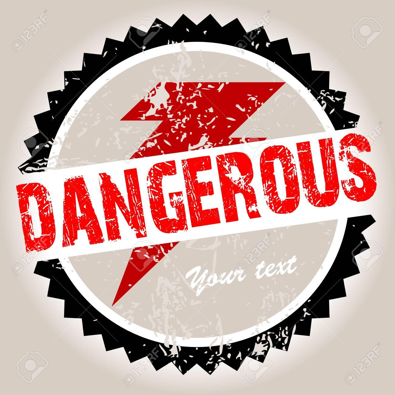 Grunge stamp with Dangerous Stock Photo - 9829631