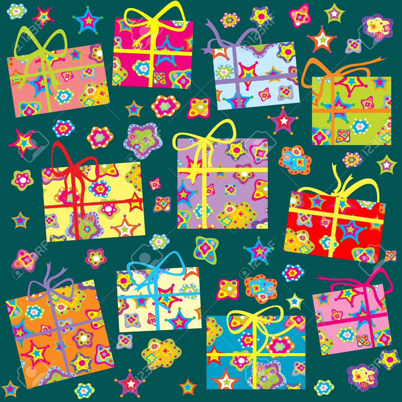 Seamless pattern with Christmas gifts Stock Vector - 10931155