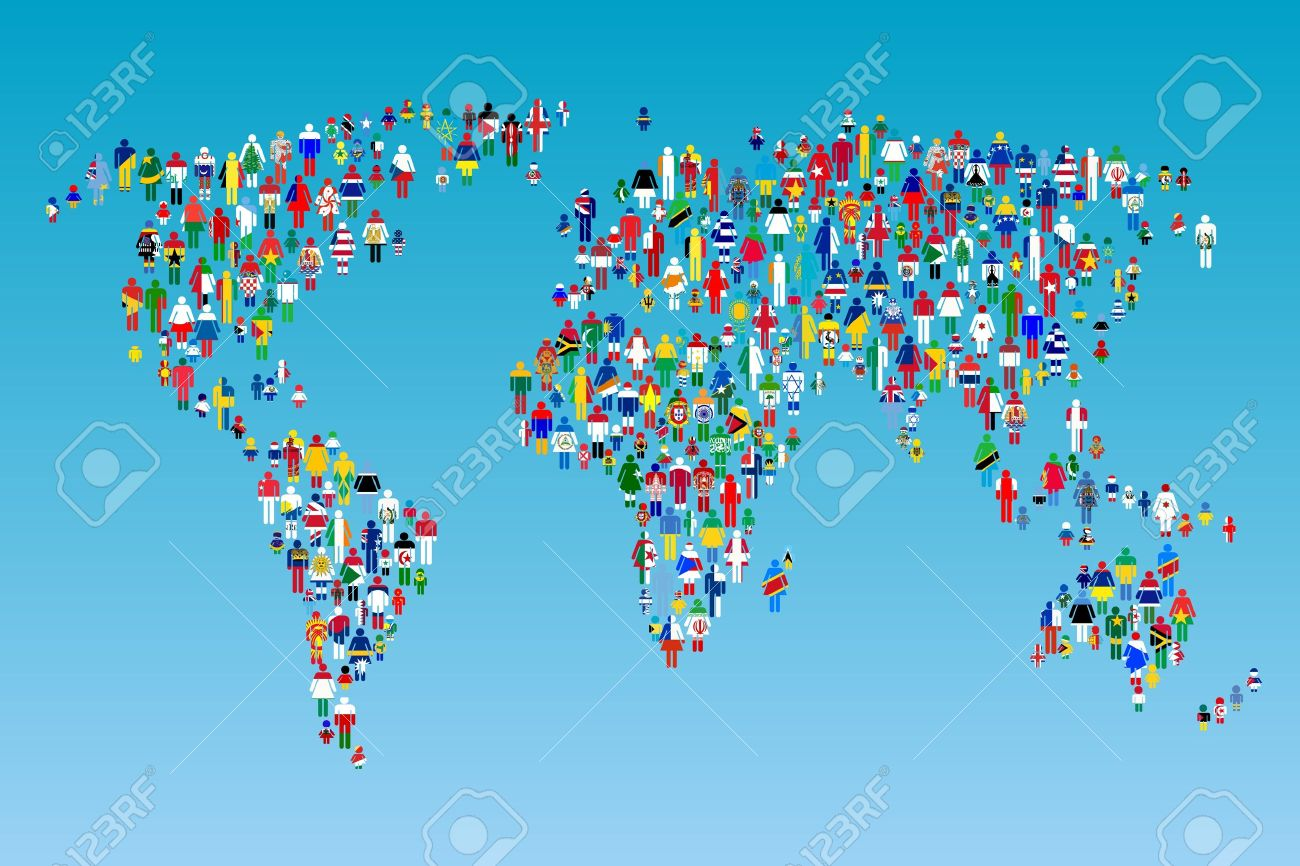Globalisation world map with people made from flags stock photo globalisation world map with people made from flags stock photo 11006261 gumiabroncs Images