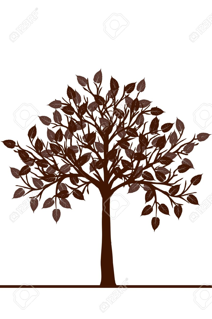 Abstract brown tree Stock Vector - 11278358