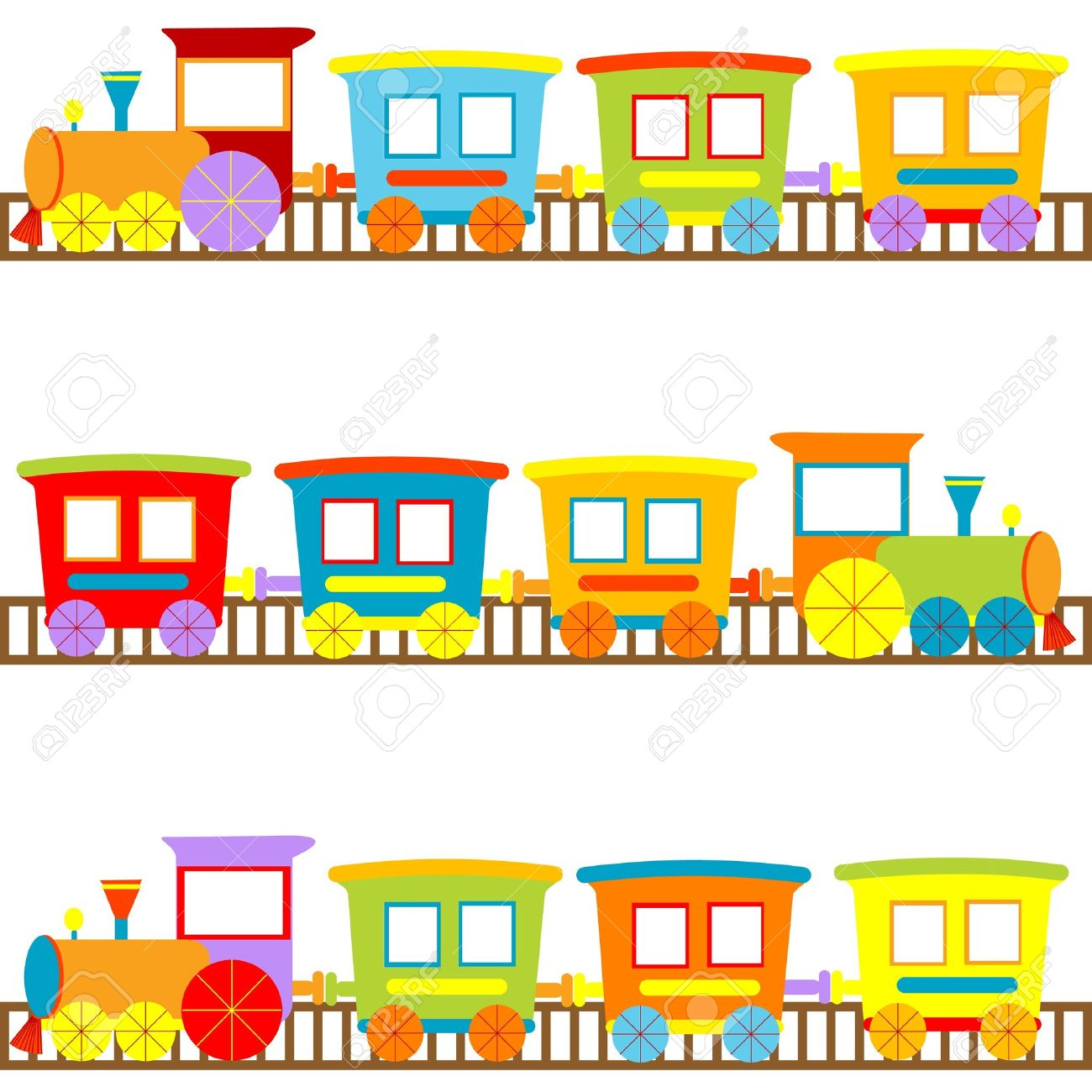 Background for kids with cartoon trains Stock Vector - 14298153