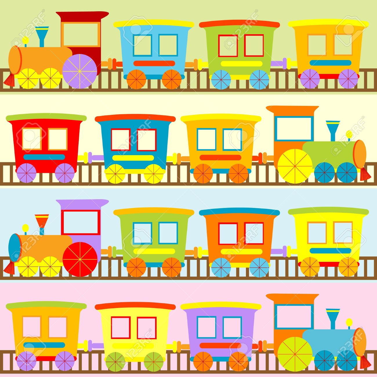 cartoon trains backgrounds for kids royalty free cliparts vectors