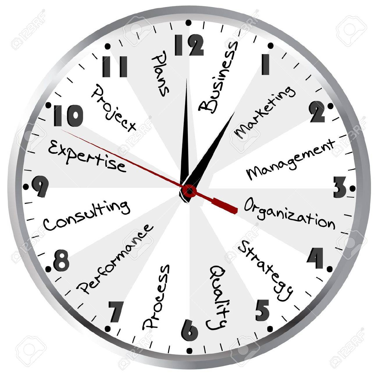 Business Time  Management concept with clock Stock Photo - 15804822