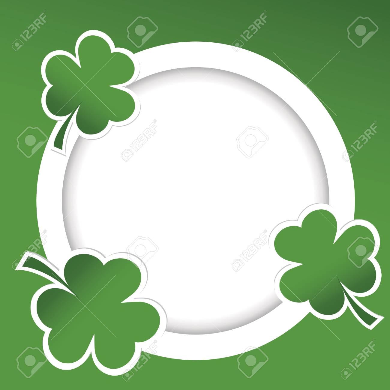 Shamrock illustration card for St. Patrick's Day Stock Illustration - 23267049
