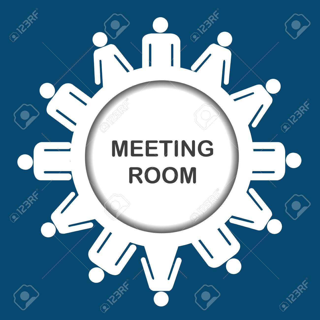 Round table meeting icon - Round Table Meeting Meeting Room Icon