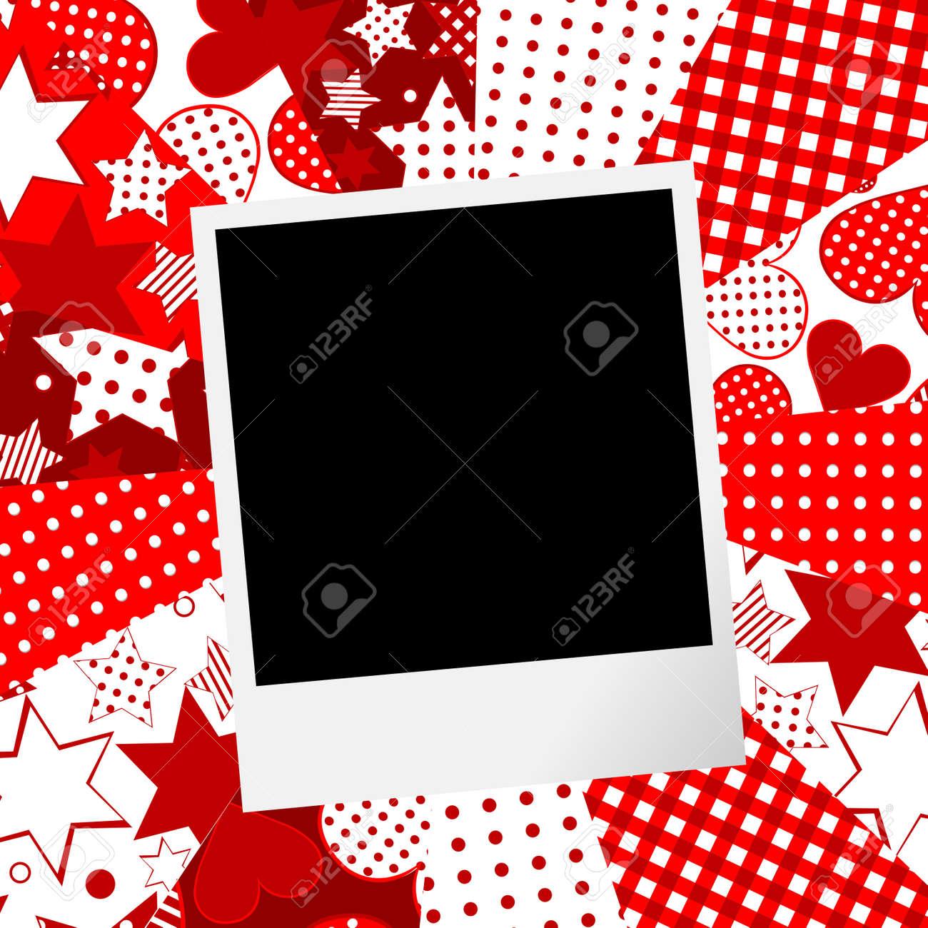 Album Seite Für Sammelalbum Mit Fotorahmen Und Die Liebe Motive ...