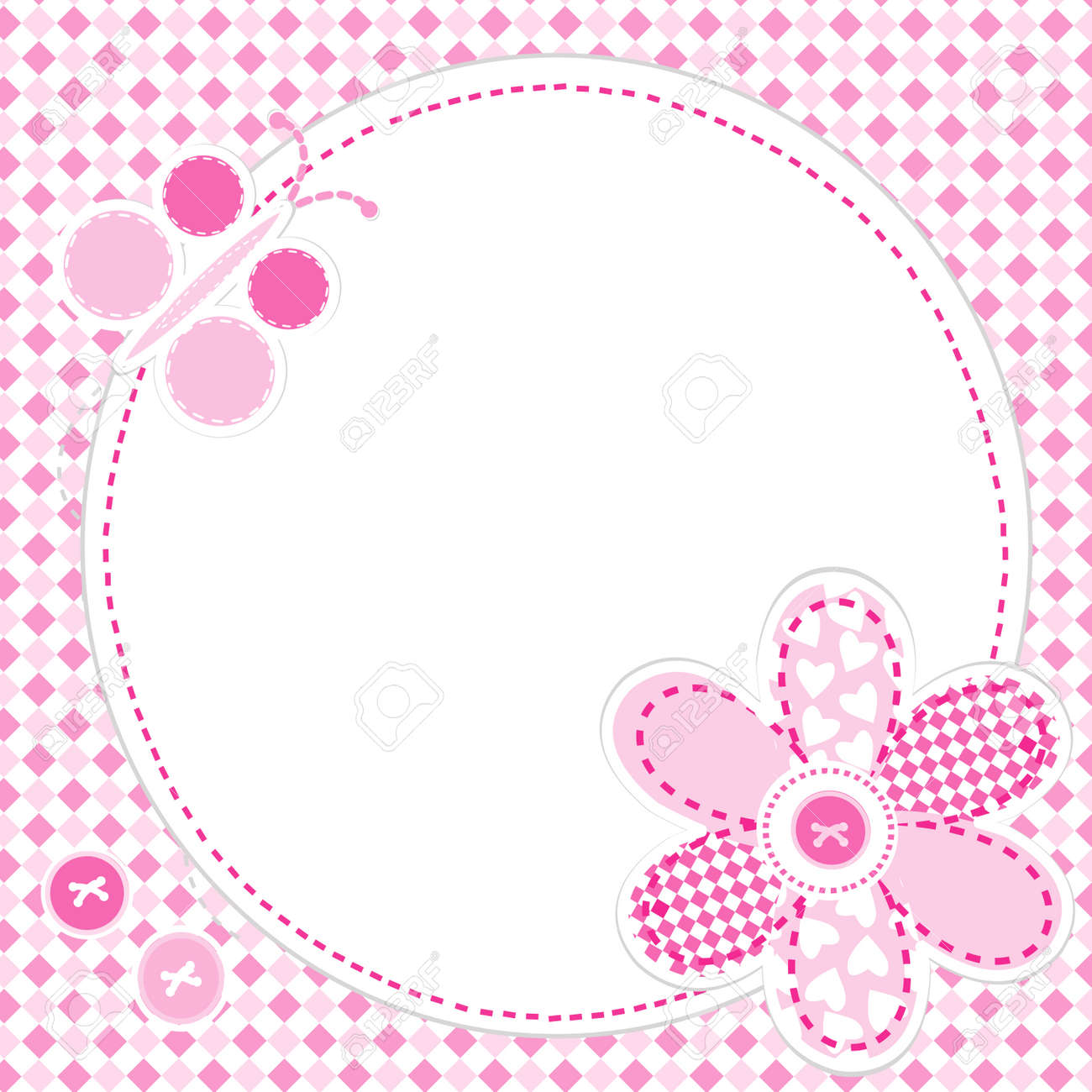 Baby girl greeting card with flower and butterfly royalty free baby girl greeting card with flower and butterfly stock vector 40183280 kristyandbryce Images