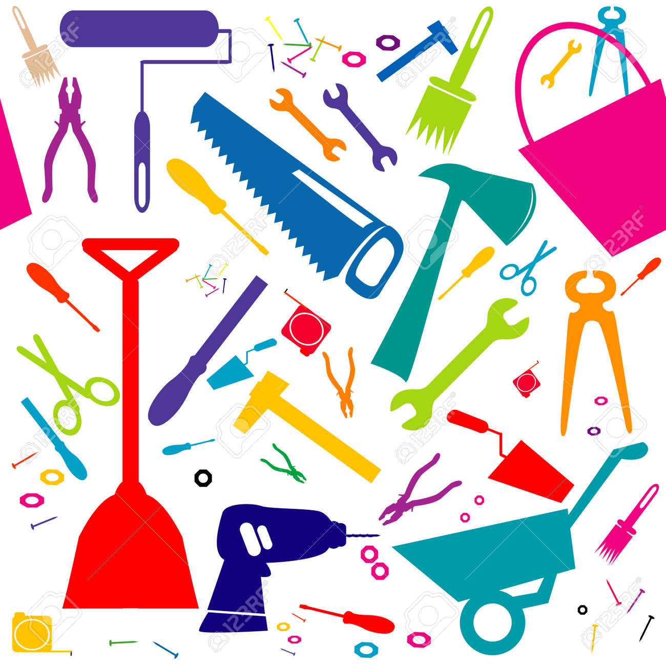 Seamless background with do it yourself tools or home repair seamless background with do it yourself tools or home repair tools stock vector 40402205 solutioingenieria Choice Image