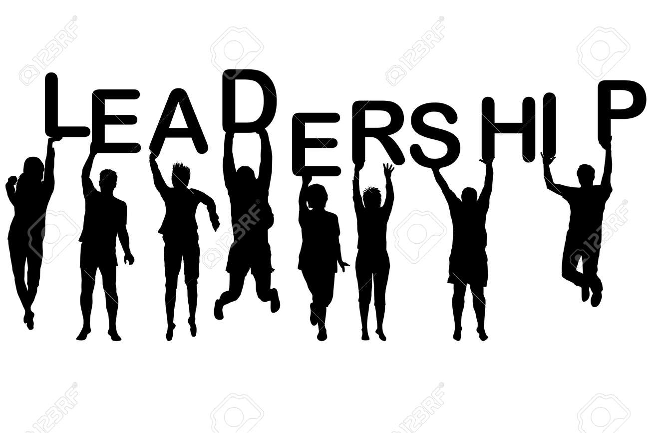 Leadership Concept With People Silhouettes Holding Letters With Royalty Free Cliparts Vectors And Stock Illustration Image 73679845