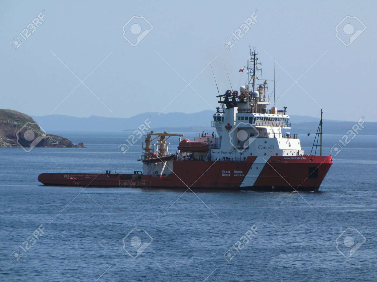 US Coast Guard boat at rescus operation  Stock Photo - 9868245