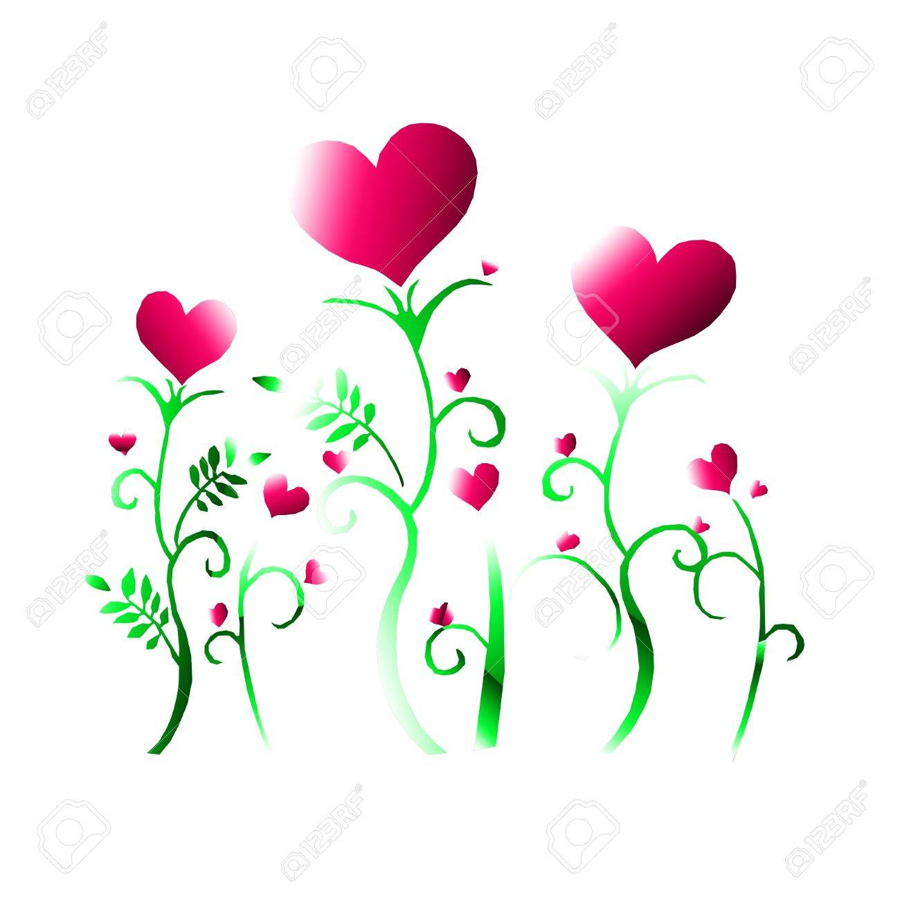hearts and flowers Stock Photo - 8880374