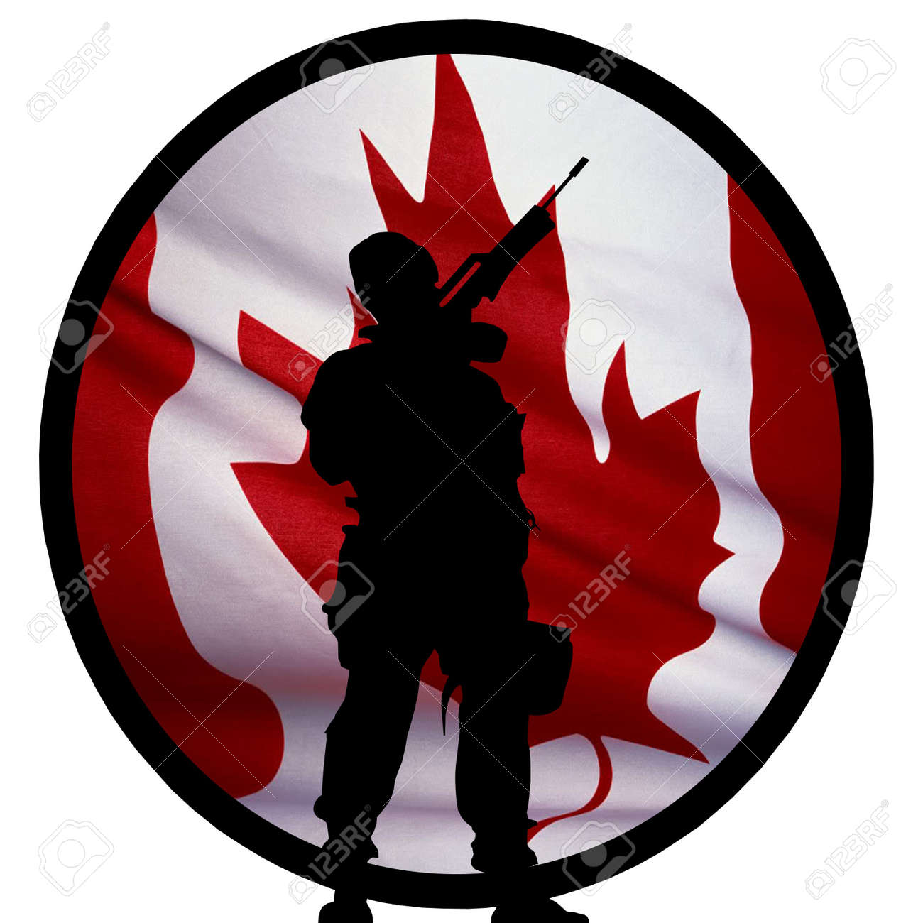 Canadian Soldier Logo Stock Photo - 9498030