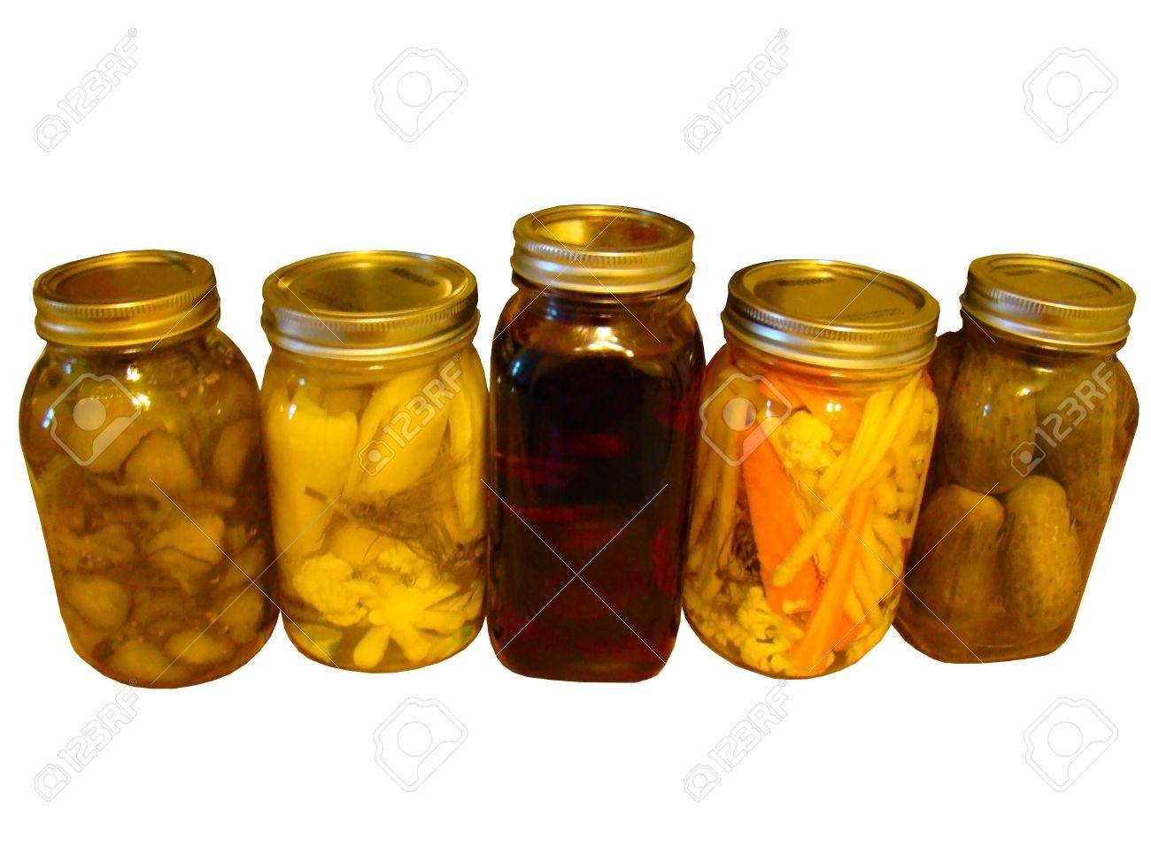 Isolated Pickled Dills, Stock Photo - 10510388