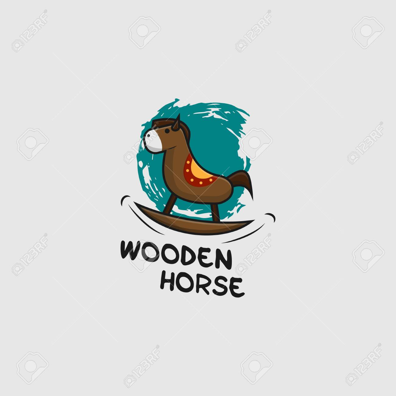Icon Logo Of Wooden Horse Toy Royalty Free Cliparts Vectors And Stock Illustration Image 129831743