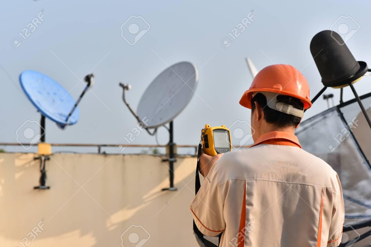 Set up satellite dish