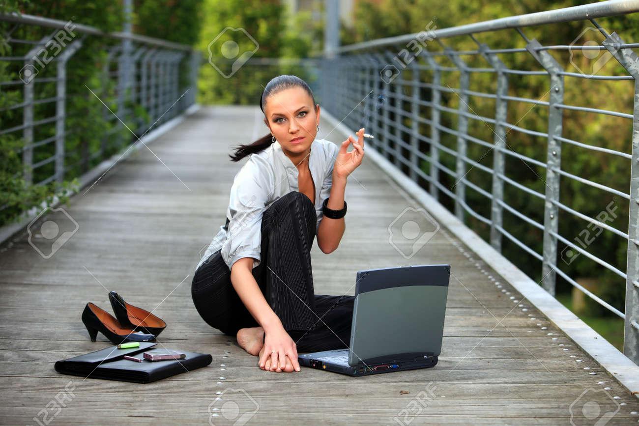 Бизнес леди расслабляется
