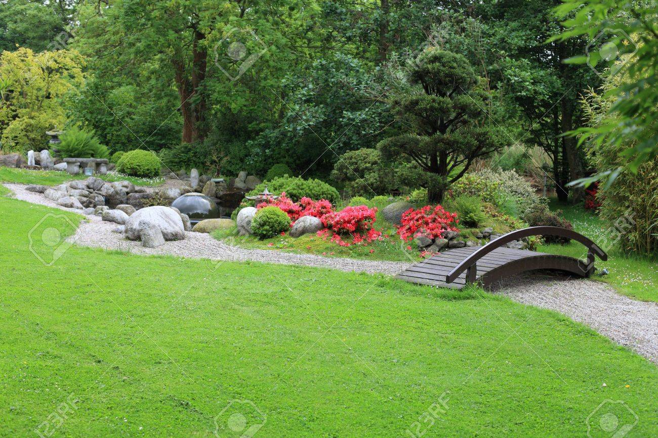 Chinese Backyard Design zen garden ideas in landscape asian design ideas with asian backyard Stock Photo Chinese Garden Korean Asian Japanese With A Wood Bridge And Some Colorful Nice Flowers And A Big Fresh Green Gras Meadow