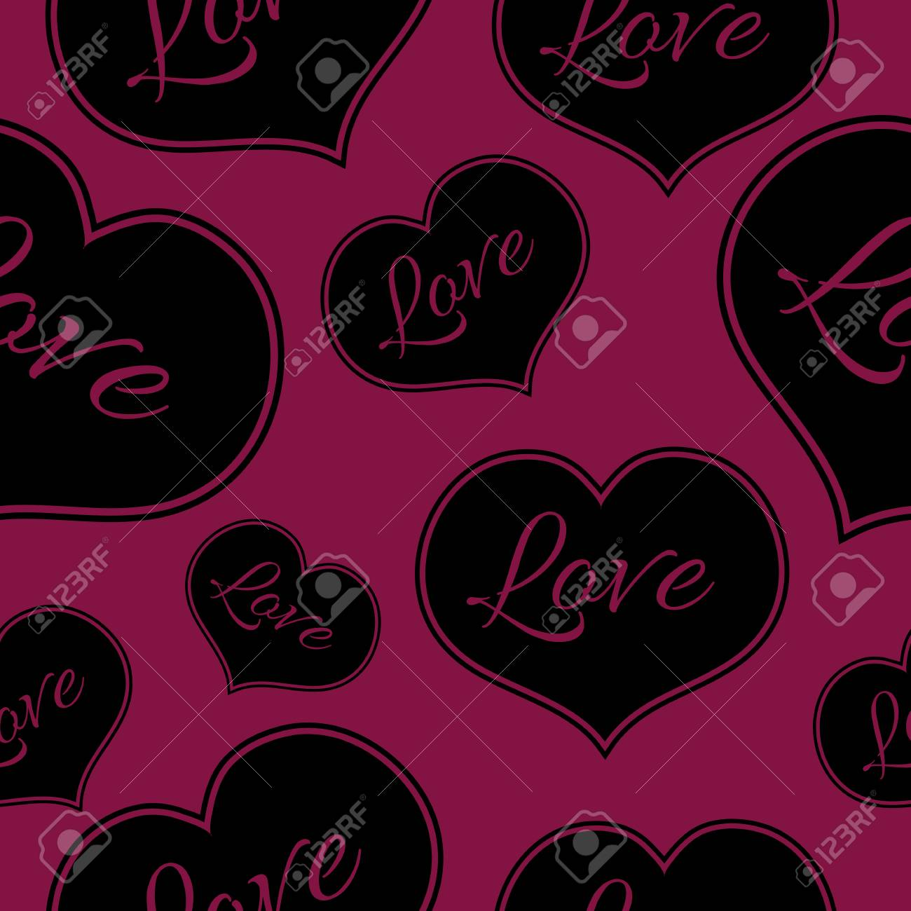 Seamless Pink Pattern For A Valentine Day Can Be Used For Love