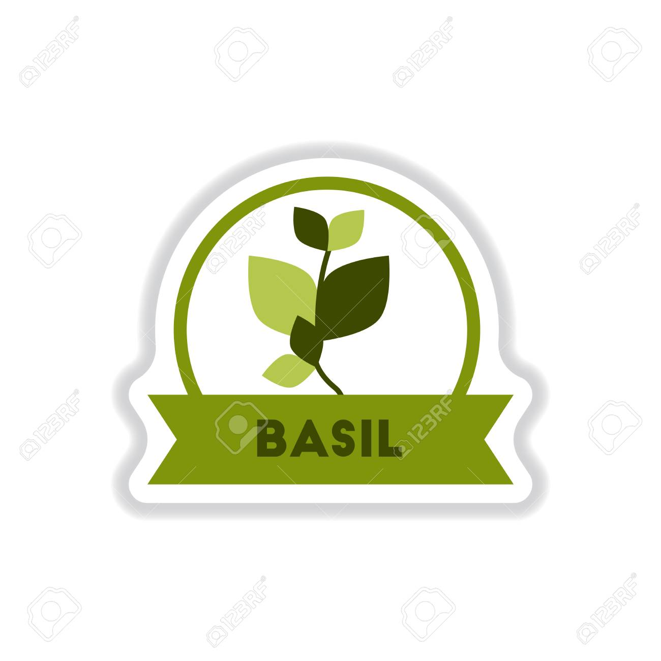 Label Icon On Design Sticker Collection Kitchenware Seasoning