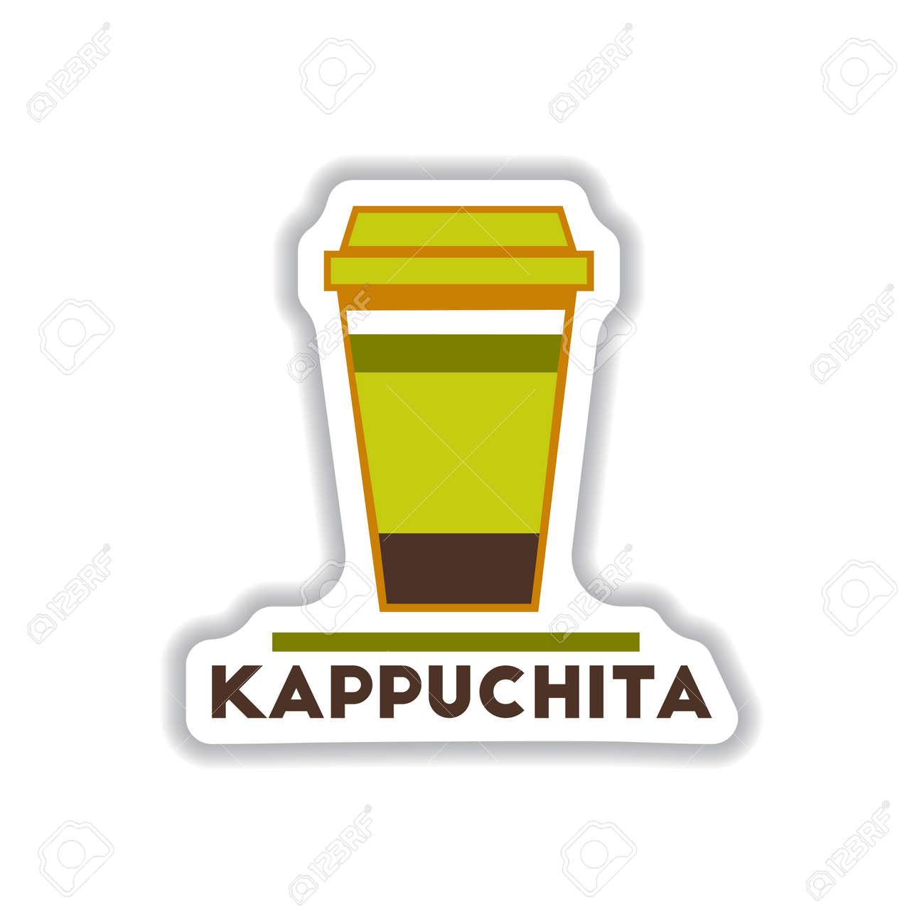 Label Frames And Badges Vector Icons Coffee Emblem Kappuchita ...