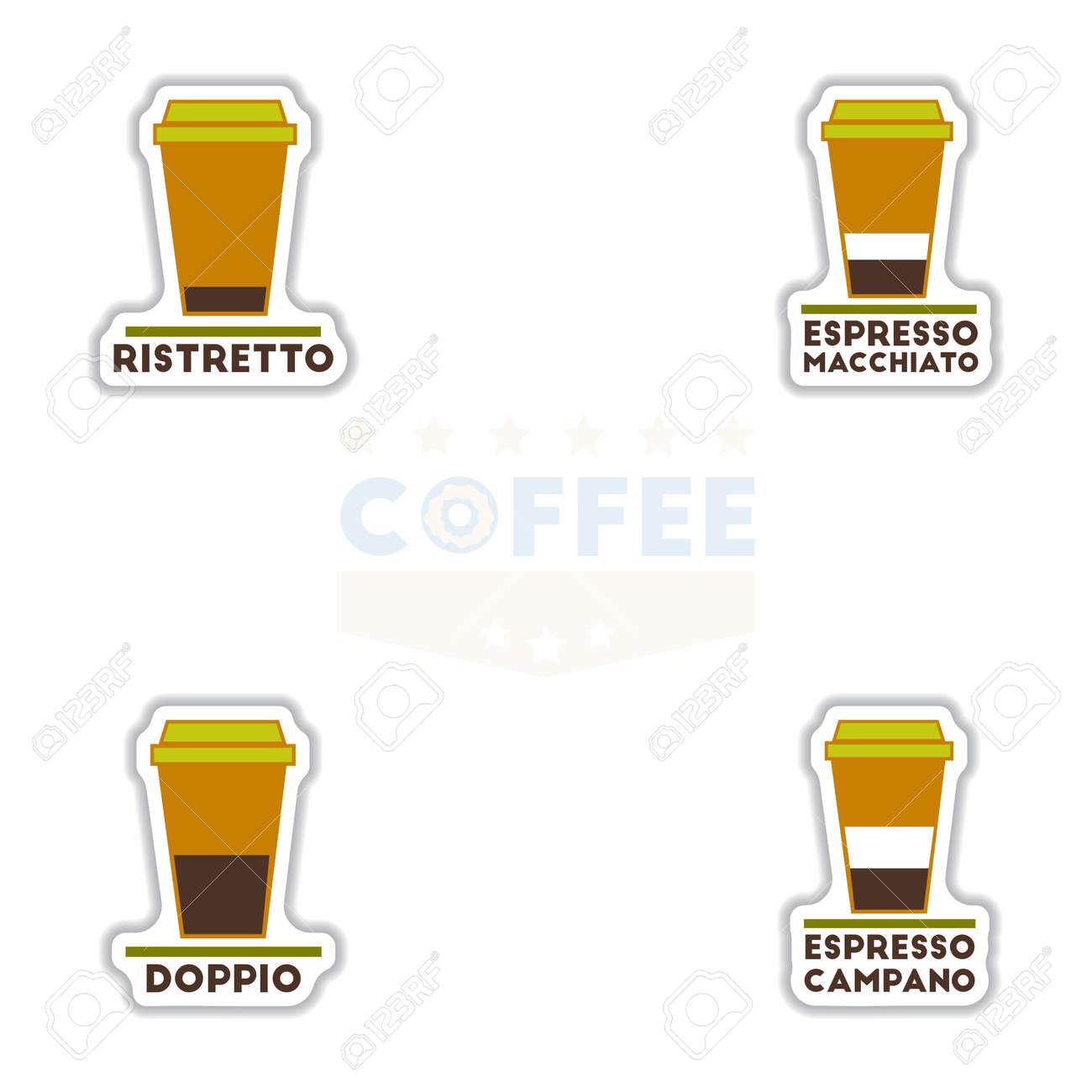 Sätze Von Label Frames Und Abzeichen Vektor-Icons Kaffee Emblem ...