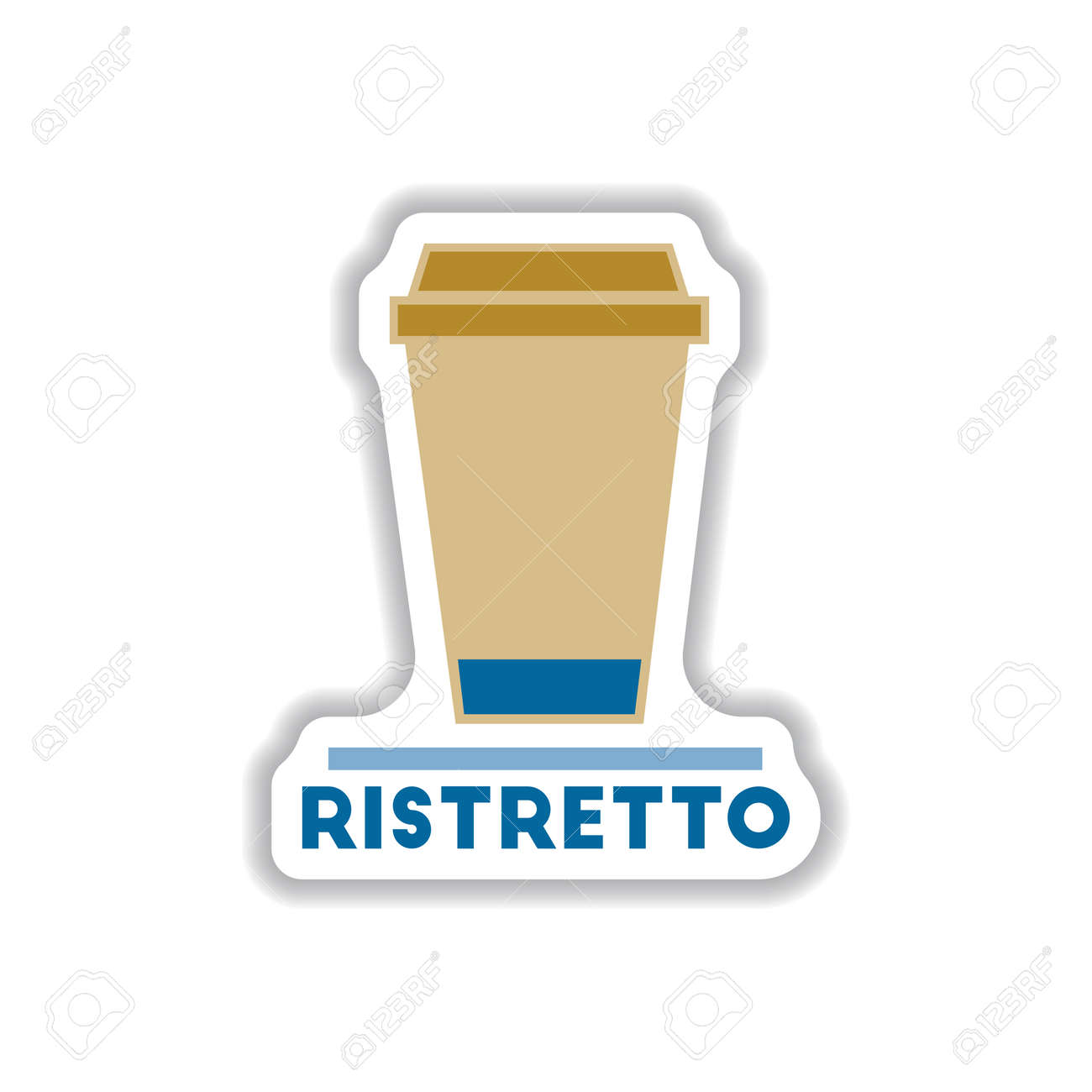Label Frames And Badges Vector Icons Coffee Emblem Ristretto ...