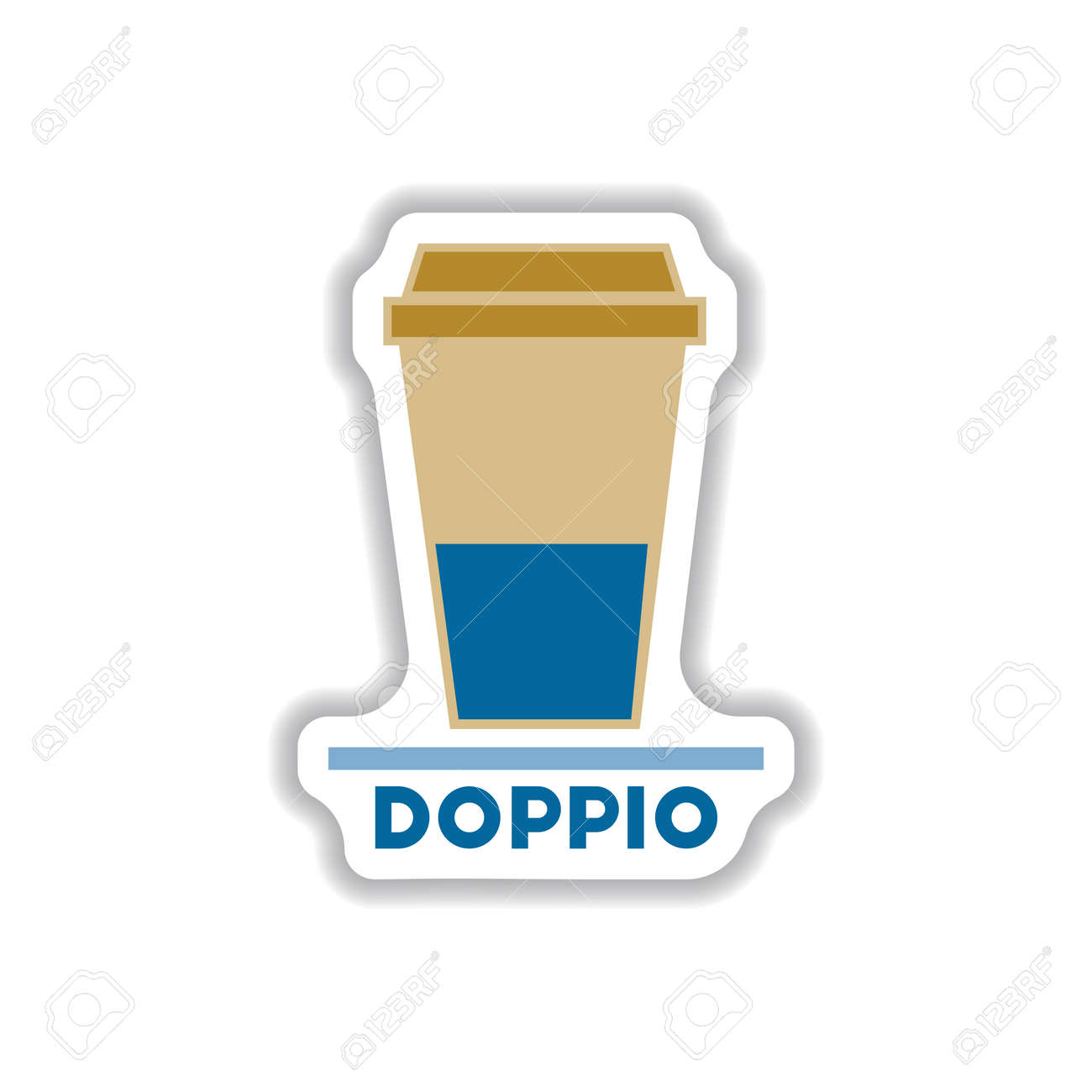 Label Frames And Badges Vector Icons Coffee Emblem Doppio To ...