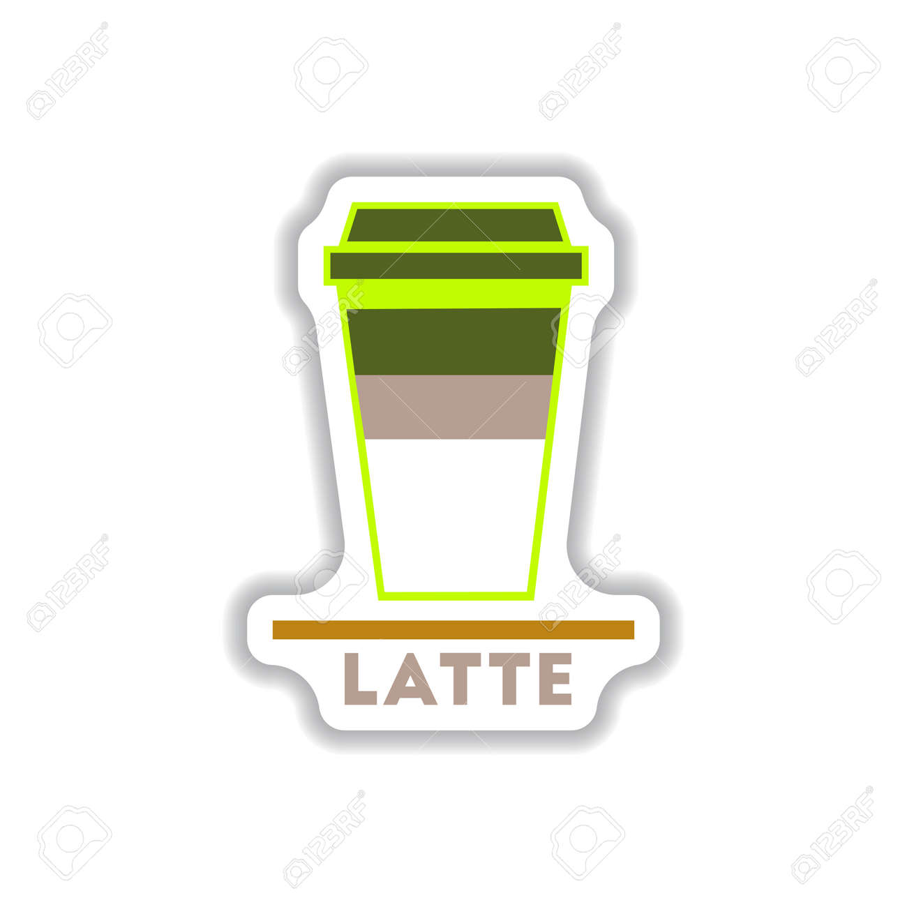Label Frames And Badges Vector Icons Coffee Emblem Latte To Go ...